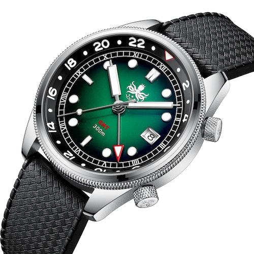 PX023A GREEN Phoibos Eagle Ray Quartz GMT