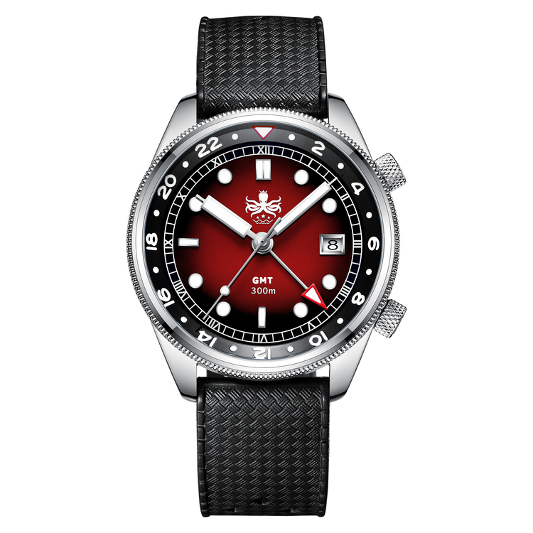 PX023E RED Phoibos Eagle Ray Quartz GMT