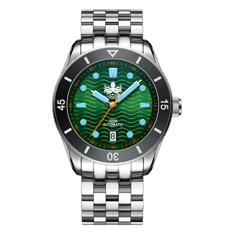 PY010A Wave Master 300M Automatic Dive Watch Green