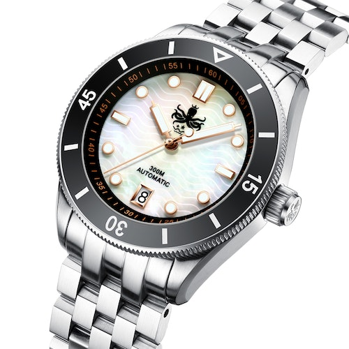PHOIBOS WAVE MASTER PY010D 300M Automatic Dive Watch Mother of pearl