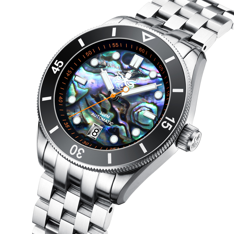 PHOIBOS WAVE MASTER PY010E 300M Automatic Dive Watch Abalone Shell