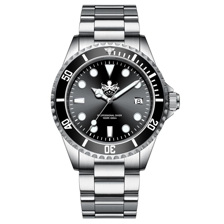 Phoibos PX002C 300M Dive watch Swiss Quartz Black