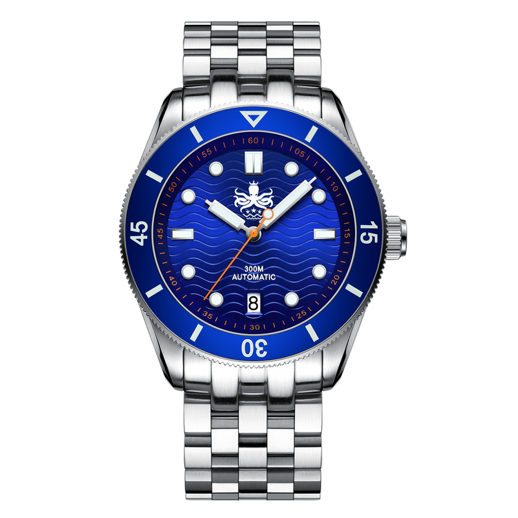 Phoibos WAVE MASTER PY010B 300M Automatic Dive watch blue.