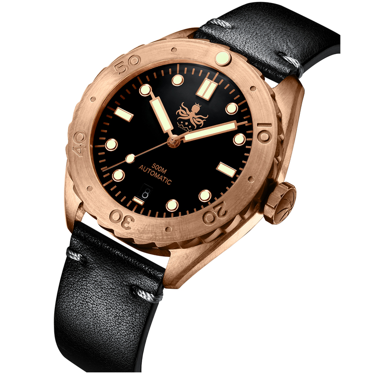 Eagle Ray Bronze PY018C 500M Automatic Diver Watch Black