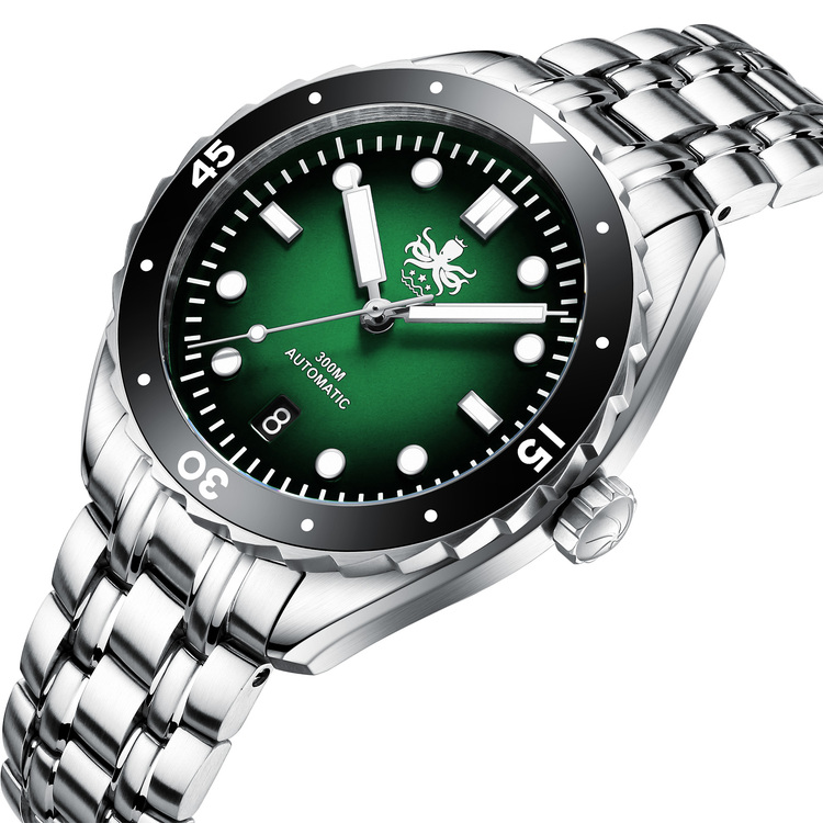 Phoibos EAGLE RAY 300M Automatic Diver watch PY025A Green