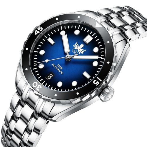 Phoibos EAGLE RAY 300M Automatic Diver Watch PY025B Blue