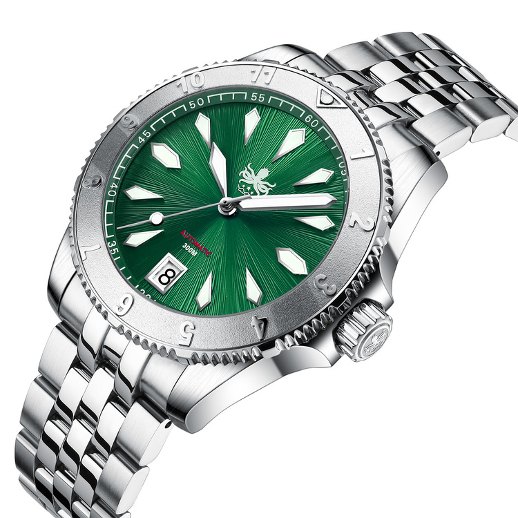 PHOIBOS Voyager 300M Diver Watch PY026A Emerald(Green)
