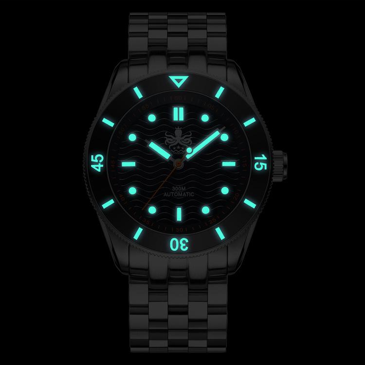 PHOIBOS WAVE MASTER PY010C 300M Automatic Dive Watch Black(Date)