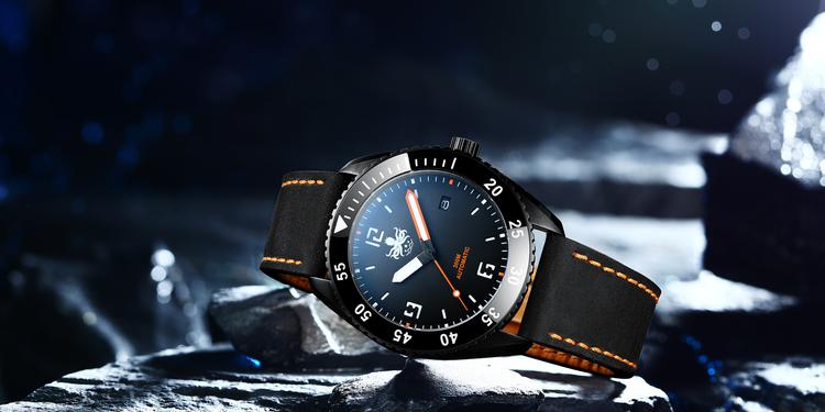 PHOIBOS REEF MASTER PY015D DLC 300M Automatic Diver Watch Orange.