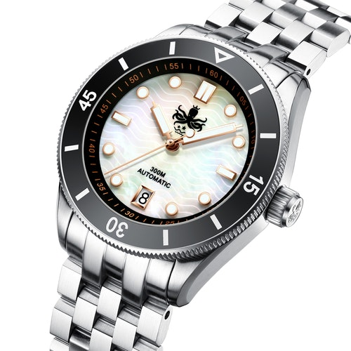 Phoibos Wavemaster Automatic dive watch 300M PY010D Mother of pearl