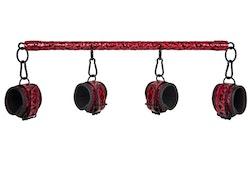 Dark Red Collection - Spreader Bar With Cuffs