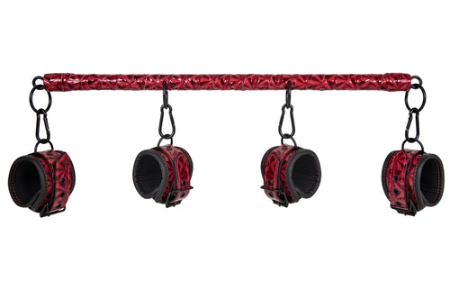 Dark Red Collection - Spreader Bar With Cuffs