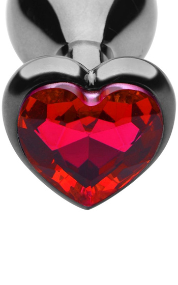 Heart Diamond Anal Plug Small