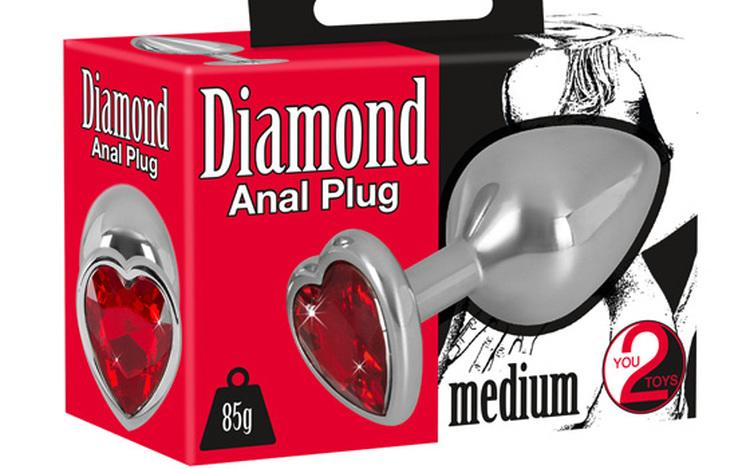 Heart Diamond Anal Plug Medium