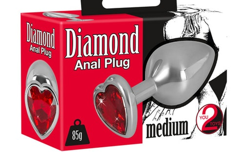 Heart Diamond Anal Plug Medium