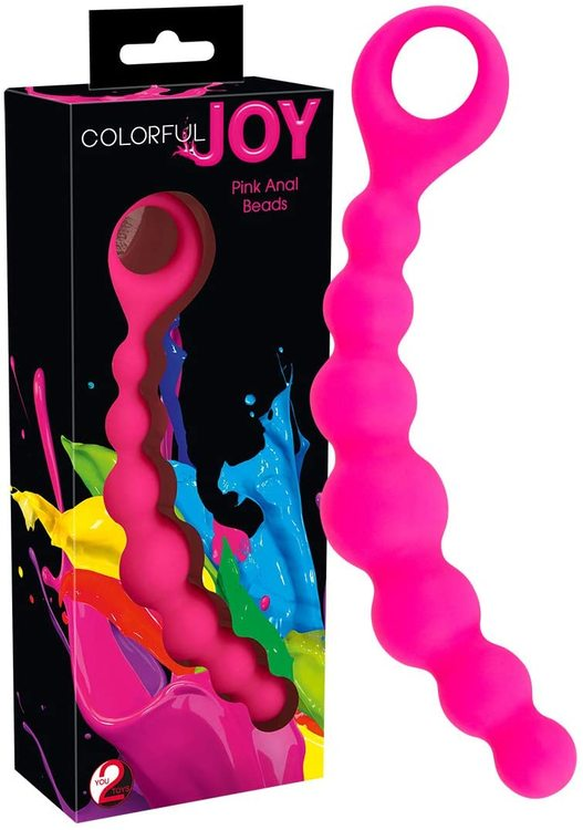 Colorful Joy - Pink Silicon Anal Beads
