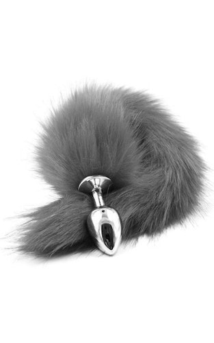 Fox Tail Plug Silver Grey