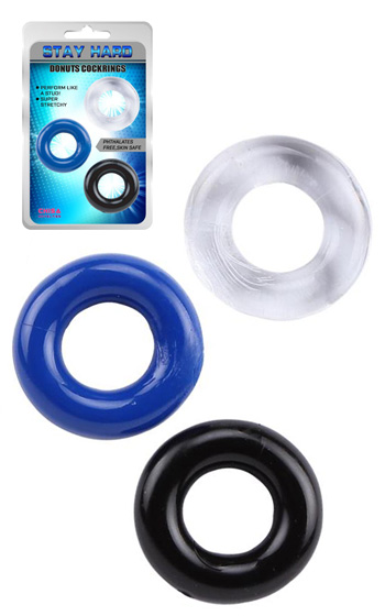 Stay Hard Rings Donut 3-Pack