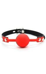 Lockable Ball Gag Röd
