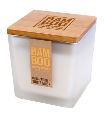 Bamboo Cederträ & Vit Mysk Stor