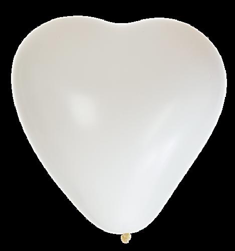 Ballonger Hjärta Vit 8-Pack