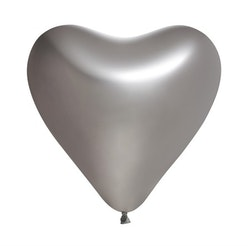 Ballonger Hjärta Silver 5-Pack
