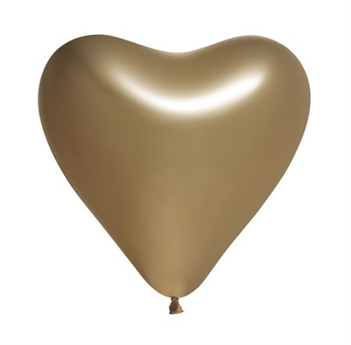 Ballonger Hjärta Guld 5-Pack