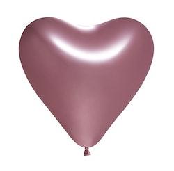 Ballonger Hjärta Glansig Rosa 5-Pack
