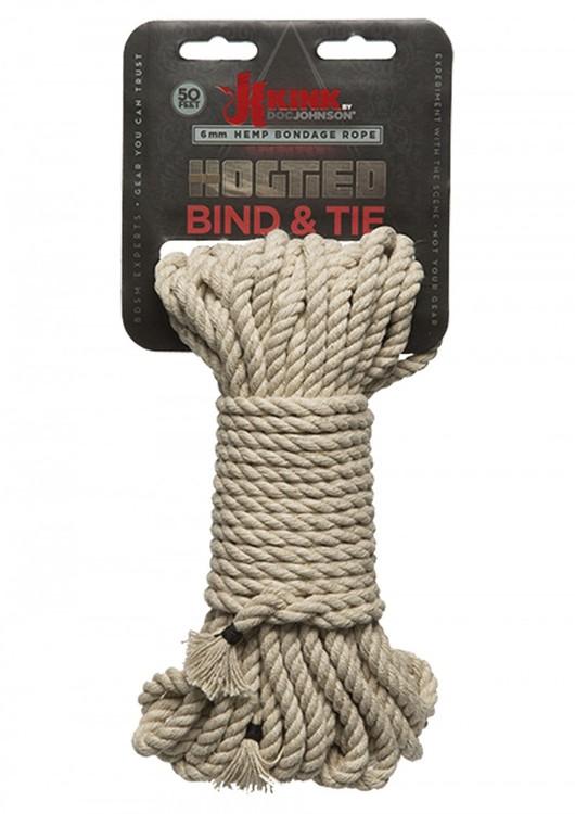 Bondage Rope 15M Natural Hemp