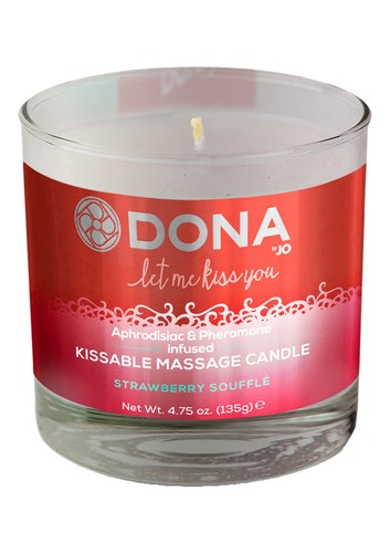 DONA Massageljus Strawberry Soufflé 135 g