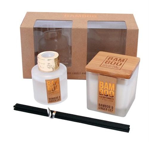 Bamboo Gåvoset Med Ljus Och Doftpinnar