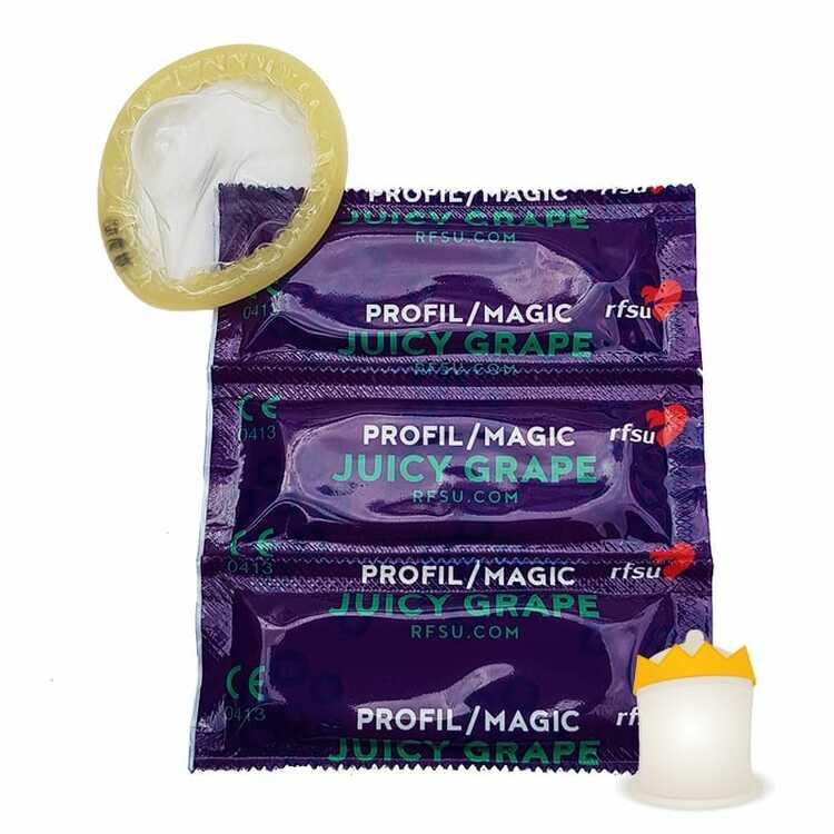 Kondomer 3-Pack Profil/Magic Juicy Grape