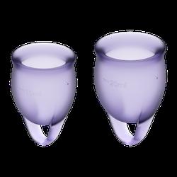 Satisfyer Feel Confident Menstrual Cup Lila