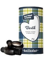 Belladot Penisring Med Vibrator Bertil Svart