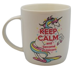 "Mugg ""Keep Calm And Become A Unicorn"""