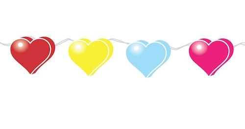 Heart Symbols In Lights