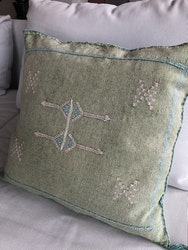 Catcus silk cushion - Green