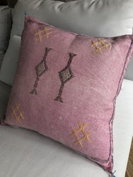 Cactus Silk Cushion - Pink