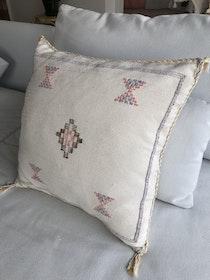 Cactus silk cushion - Cream