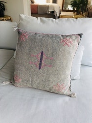 Cactus Silk Cushion - Grey