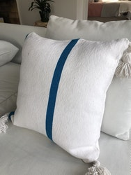 White & Turquoise Cushion