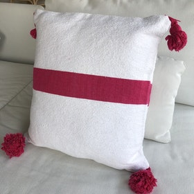 Pink and White Cushion