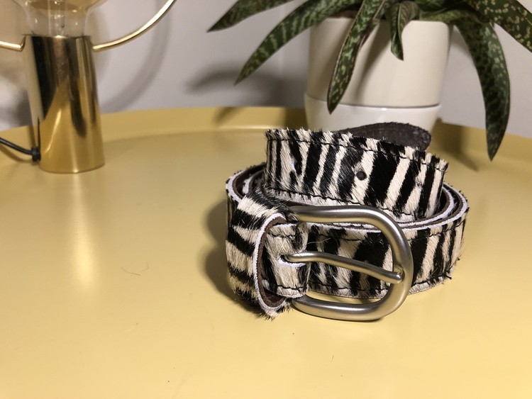Cowhide leather Belt - Zebra
