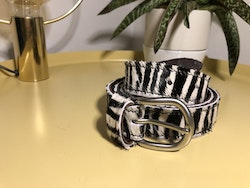 Cowhide leather Belt - Zebra
