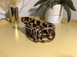 Cowhide leather belt - Cheetah