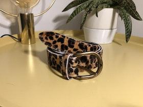 Cowhide leather belt - Cheetah