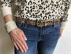 Cowhide leather belt - Leopard