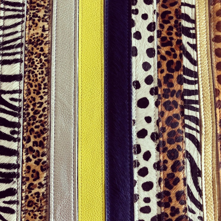 Cowhide leather belt - Leopard