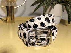 Cowhide leather belt - Dalmation