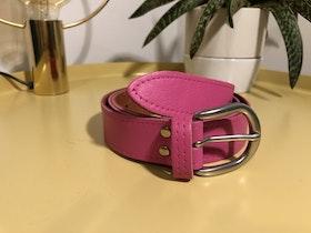 Cowhide leather belt - Pink